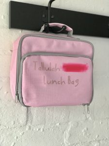 childrens personalised lunch bag