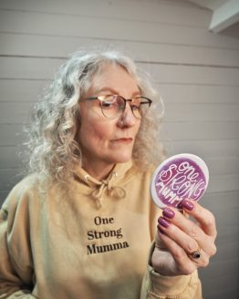 One Strong Mumma Compact Mirror