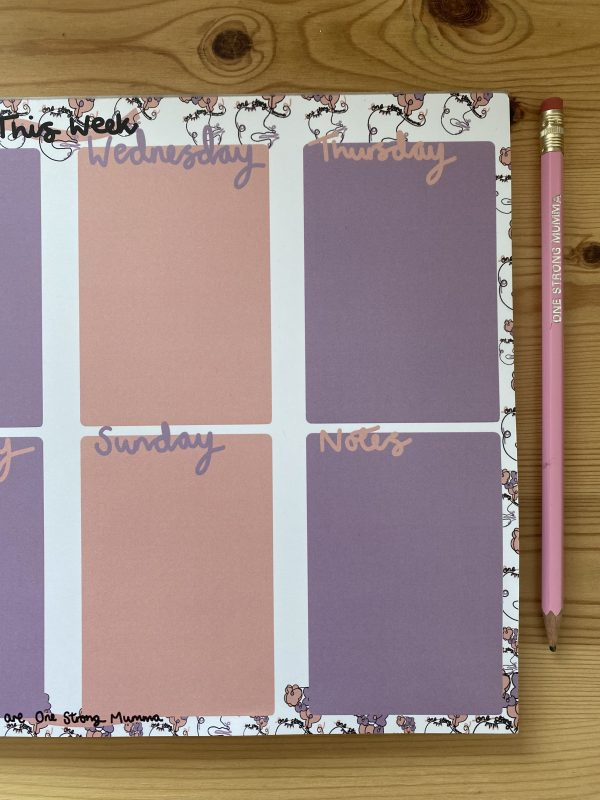 A4 WEEKLY FAMILY PLANNER
